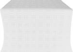 Murom silk (rayon brocade) (white/silver)