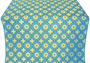Mira Lycia silk (rayon brocade) (blue/gold)