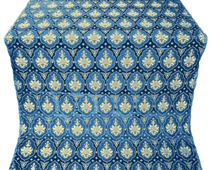 Chernigov silk (rayon brocade) (blue/gold)