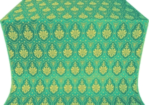 Chernigov silk (rayon brocade) (green/gold)