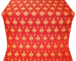 Chernigov silk (rayon brocade) (red/gold)