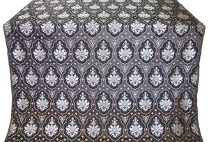 Chernigov silk (rayon brocade) (black/silver)