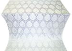 Chernigov silk (rayon brocade) (white/silver)