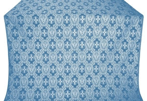 Seraphim silk (rayon brocade) (blue/silver)