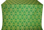 Seraphim silk (rayon brocade) (green/gold)