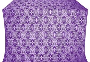 Seraphim silk (rayon brocade) (violet/silver)