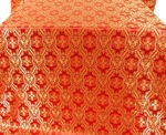 Seraphim silk (rayon brocade) (red/gold)