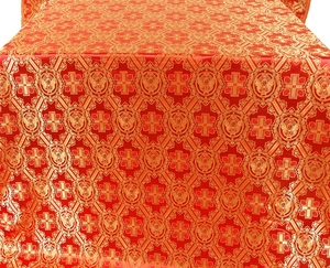 Seraphim silk (rayon brocade) (red/gold)