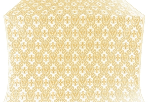 Seraphim silk (rayon brocade) (white/gold)