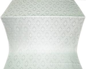 Seraphim silk (rayon brocade) (white/silver)