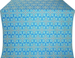 Smolensk silk (rayon brocade) (blue/gold)