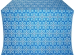 Smolensk silk (rayon brocade) (blue/silver)