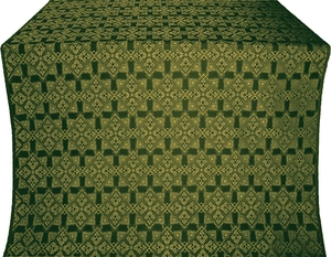 Smolensk silk (rayon brocade) (green/gold)