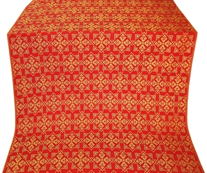 Smolensk silk (rayon brocade) (red/gold)