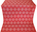 Smolensk silk (rayon brocade) (red/silver)