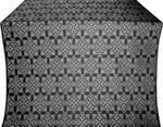 Smolensk silk (rayon brocade) (black/silver)