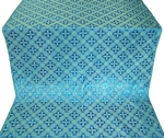 Ostrozh silk (rayon brocade) (blue/gold)