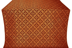 Ostrozh silk (rayon brocade) (claret/gold)