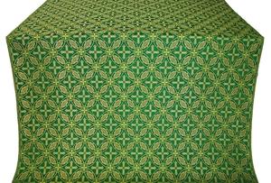Ostrozh silk (rayon brocade) (green/gold)