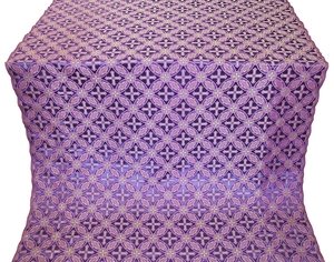 Ostrozh silk (rayon brocade) (violet/silver)