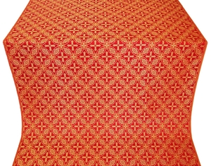 Ostrozh silk (rayon brocade) (red/gold)