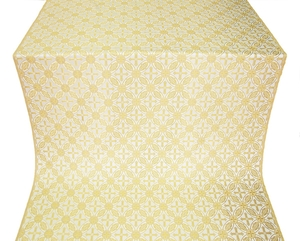 Ostrozh silk (rayon brocade) (white/gold)
