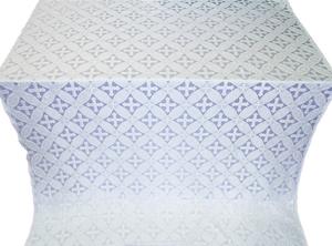 Ostrozh silk (rayon brocade) (white/silver)