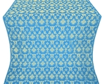 Loza silk (rayon brocade) (blue/gold)