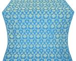 Loza silk (rayon brocade) (blue/gold)