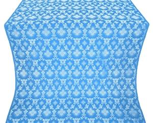 Loza silk (rayon brocade) (blue/silver)