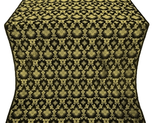 Loza silk (rayon brocade) (black/gold)