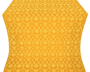 Loza silk (rayon brocade) (yellow/gold)