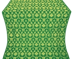 Loza silk (rayon brocade) (green/gold)