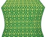 Loza silk (rayon brocade) (green/gold)