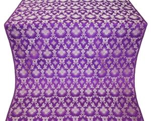 Loza silk (rayon brocade) (violet/silver)