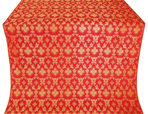 Loza silk (rayon brocade) (red/gold)