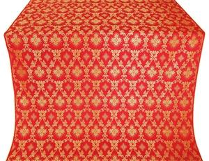 Loza silk (rayon brocade) (red/gold)