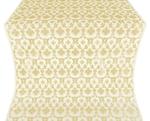 Loza silk (rayon brocade) (white/gold)