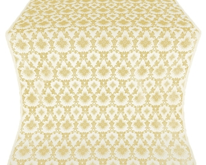 Loza silk (rayon brocade) (white/gold)