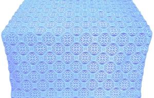 Floral Cross metallic brocade (blue/silver)