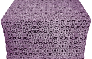 Floral Cross metallic brocade (violet/silver)