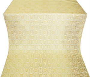 Floral Cross metallic brocade (white/gold)