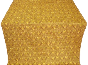 Floral Cross silk (rayon brocade) (yellow/gold)