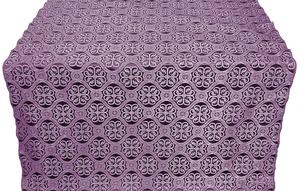 Floral Cross silk (rayon brocade) (violet/silver)
