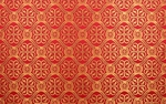 Floral Cross silk (rayon brocade) (red/gold)