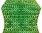 Lyubava metallic brocade (green/gold)