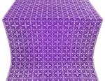 Lyubava metallic brocade (violet/silver)