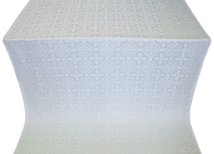 Lyubava metallic brocade (white/silver)