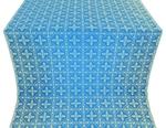 Lyubava silk (rayon brocade) (blue/gold)
