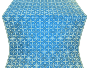 Lyubava silk (rayon brocade) (blue/gold)